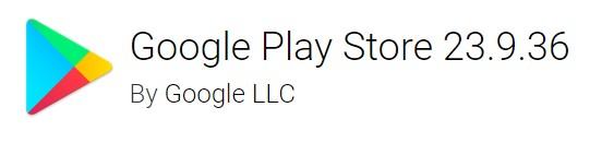 Google Play Store version 23.9.36
