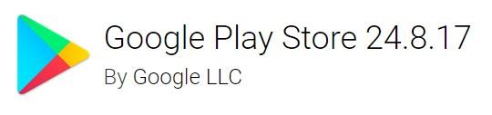 Google Play Store version 24.8.17