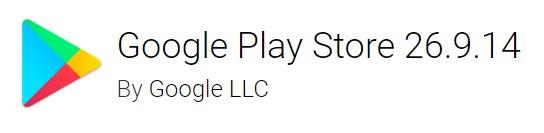 Google Play Store version 26.9.14