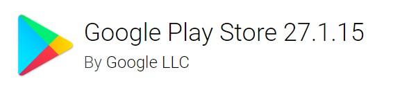 google play store version 27.1.15