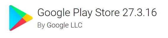 google play store version 27.3.16